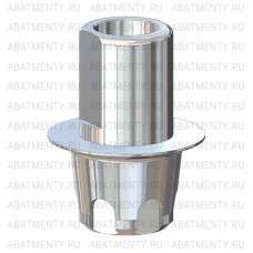 Титановое основание полированное со скосами, совместимое с Mis C1 WP