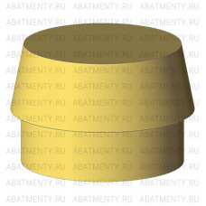 Набор аттачменов, аналог Rhein83 OT Cap MICRO с желтой и черной матрицей