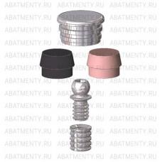 Набор аттачменов, аналог Rhein83 OT Cap MICRO с резьбовой втулкой, с розовой и черной матрицей