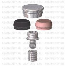 Набор аттачменов, аналог Rhein83 OT Equator с резьбовой втулкой, с розовой и черной матрицей